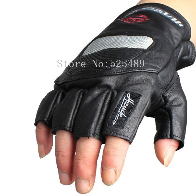 Men Brand Retro Carbon Fiber Genuine Leather Motorcycle Gloves Cycling Moto Motorbike Protective Gear Motocross Glove