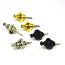 6pcs/lot Metal Anti-slip Guitar Strap Locks Knobs Round Head Gold Silver Black