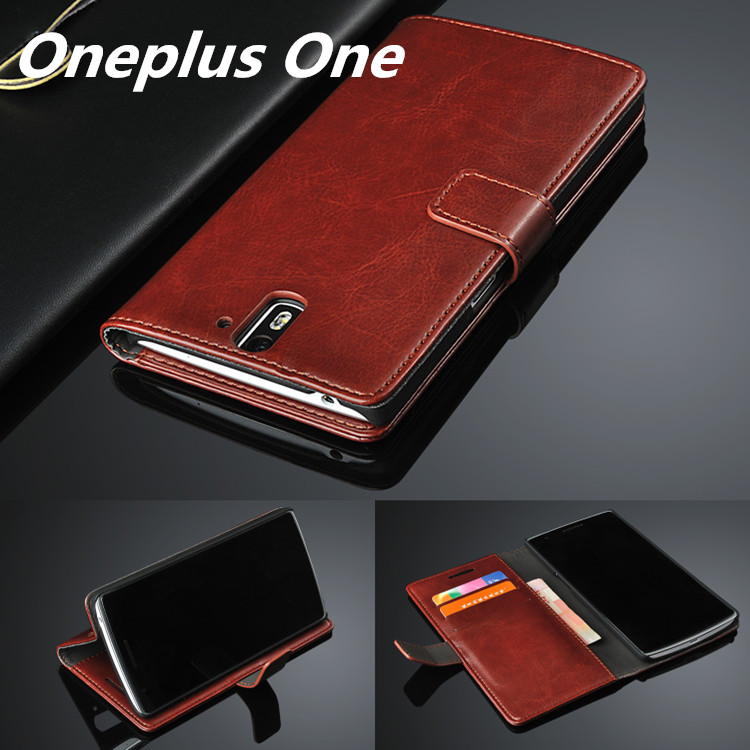 pretty nice f2dd0 04089 US $4.96 29% OFF|High Quality Flip Cover Case For OnePlus One 1+1 Leather  Phone Bag Capa Fundas Magnetic Holster Oneplus One Case-in Flip Cases from  ...