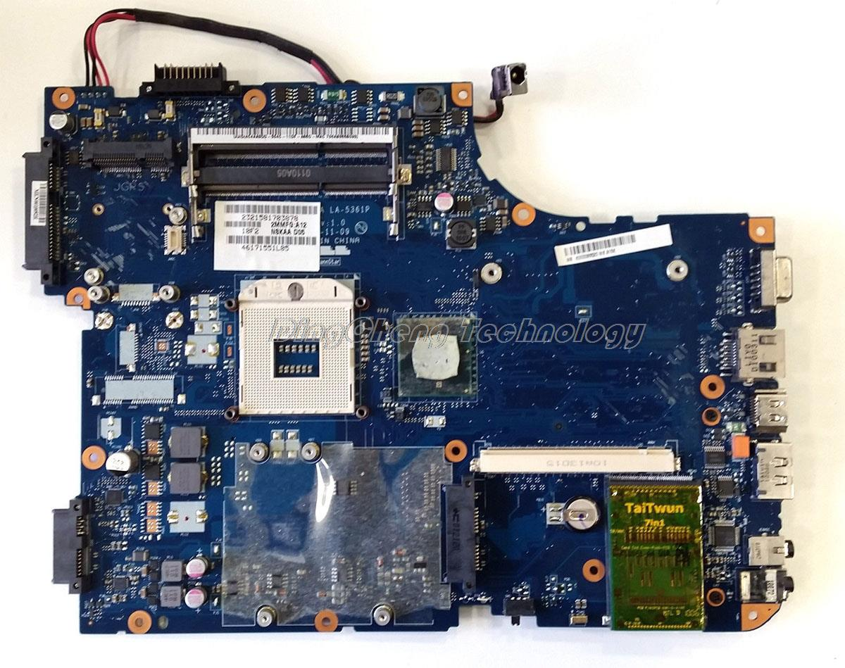 SHELI laptop Motherboard For Toshiba Satellite A500 NSKAA LA-5361P HM55 DDR3 integrated graphics card 100% fully tested