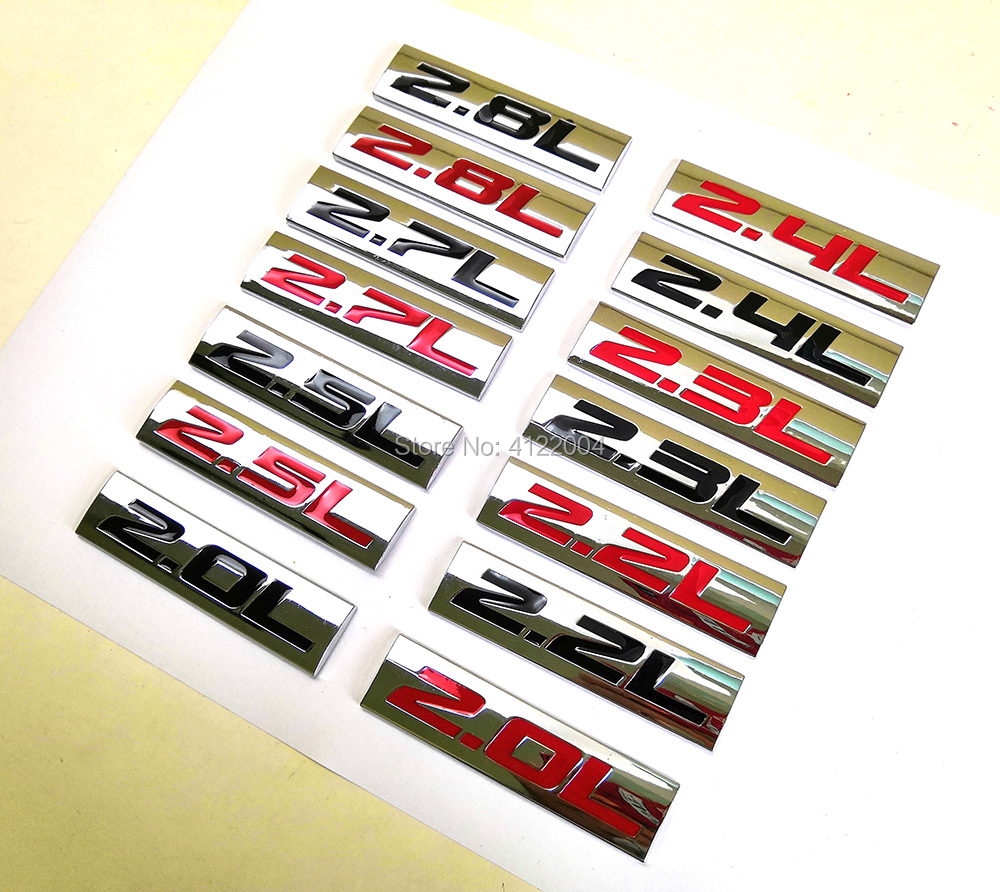 Энергетическая эмблема, наклейка на багажник для TOYOTA, HONDA, MITSUBISHI, VOLVO GEELY, CHERY HAVAL, 2.0L, 2.2L, 2.3L, 2.4L, 2.5L, 2.7L, 2.8L
