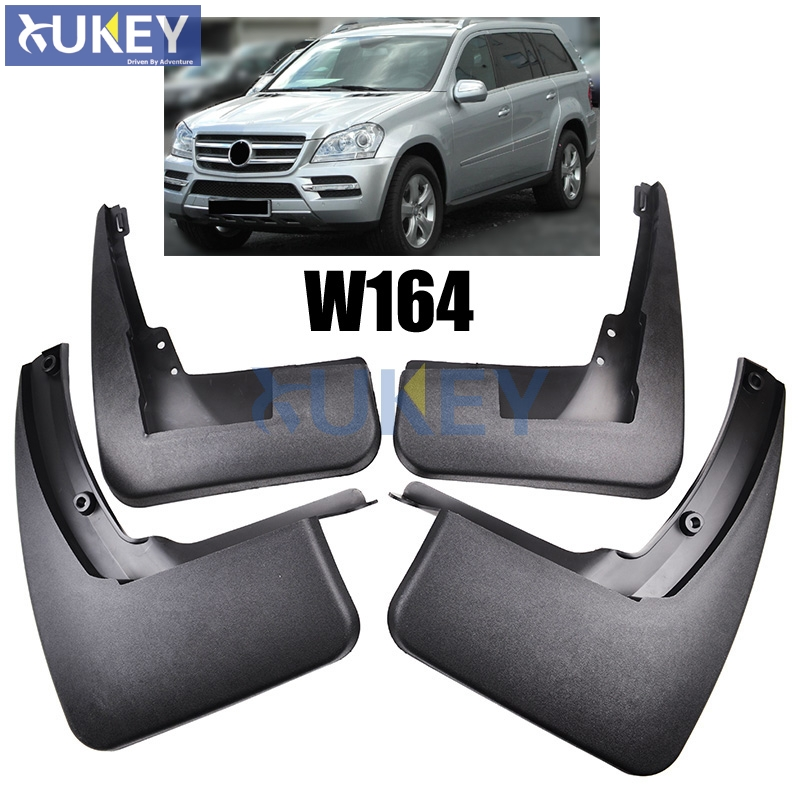 Accessories set molded mud flap flaps for benz gl class for Mercedes benz ml350 mud flaps