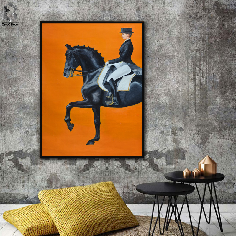 Modern Equestrian Printing Art Canvas Paintings Poster, Horse Wall Picture for Living Room Home Decor