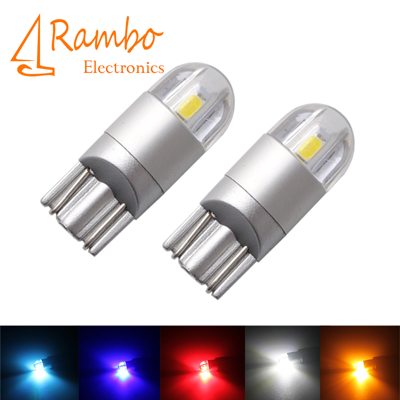 Car Styling W5W LED T10 3030 2SMD Auto Lamps 168 194 Bulb Plate Light Parking Fog Light Auto Univera Cars Light car led 1pcs t10 194 w5w dc 12v canbus 6smd 5050 silicone shell led lights bulb no error led parking fog light auto car styling