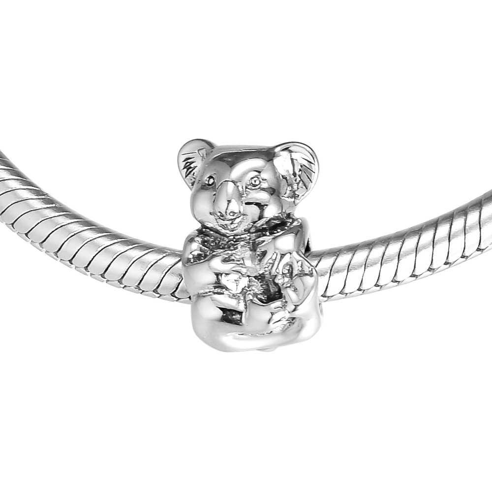 Fits for Pandora Beads Bracelets Koala Charms 100% 925 Sterling Silver  Jewelry Free Shipping