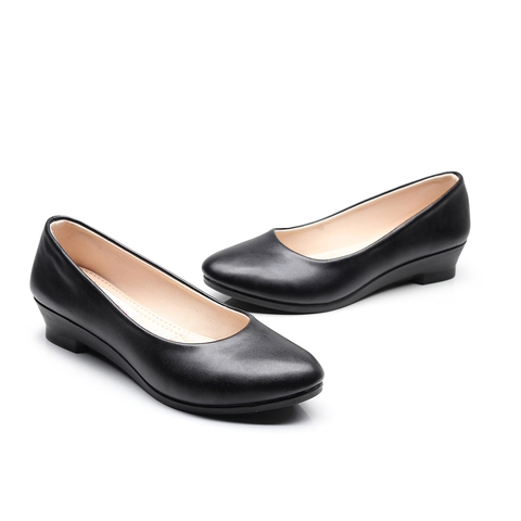 Women Ballet Flats Shoes Black Women Casual PU Leather Shoes For Office Work Boat Shoes Cloth Sweet Loafers Womens Classics Shoe Lahore