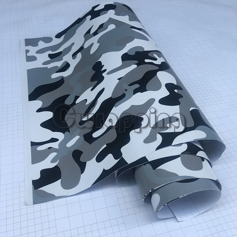 3m 2m 1.5m Matte Black White Camo Stickers Motorcycle Decorating Urban Camouflage Car Foil Wrap Hood Roof Scooter Decal Sheet
