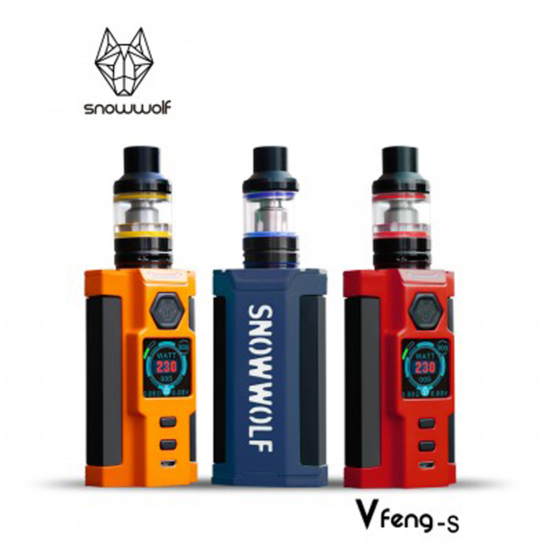 Elektronik Sigara Original Snowwolf Vfeng-S Kit 230W Vfeng S box mod Vape with 2.8ML T3  ...