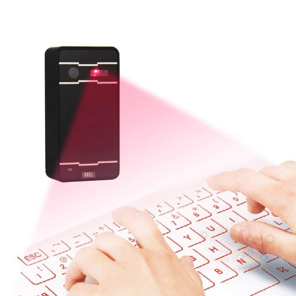Clavier de Projection virtuel de clavier de Laser de Bluetooth sans fil portatif pour le téléphone intelligent d'iphone Android