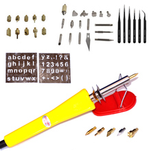 42pcs Wood Burning Pen Set Wood Burning Soldering Iron Chiseled Tips Blade Tweezer Pyrography Tool Woodburning Soldering Pen Kit 1 set pyrography wood working and soldering tips alphabet numbers symbols stencils tool parts accesspries supplies