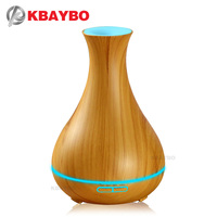 KBAYBO 400ml Aroma Essential Oil Diffuser Electric Wood Grain Ultrasonic Cool Mist Humidifier For Office Home