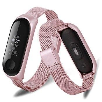 Mi band 3 Wristband Wrist Band Bracelet Strap for Xiaomi Mi Band 3 MiBand 3 Strap Metal Bracelet Stainless Steel Wrist Strap фото