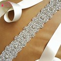 Cinto cinto de noiva casamento jóias de casamento de strass artesanal de cristal acessórios de jóias de estilo Europeu e Americano