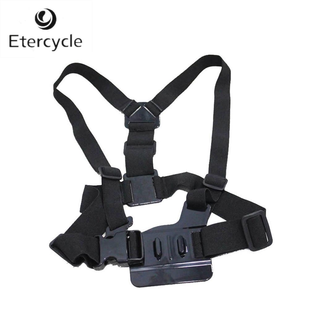 Deportes y Acción cámaras de vídeo hombros Correa montaje pecho arnés cinturón adaptador para GoPro 5 4 3 + SJCAM M10 m20 SJ5000