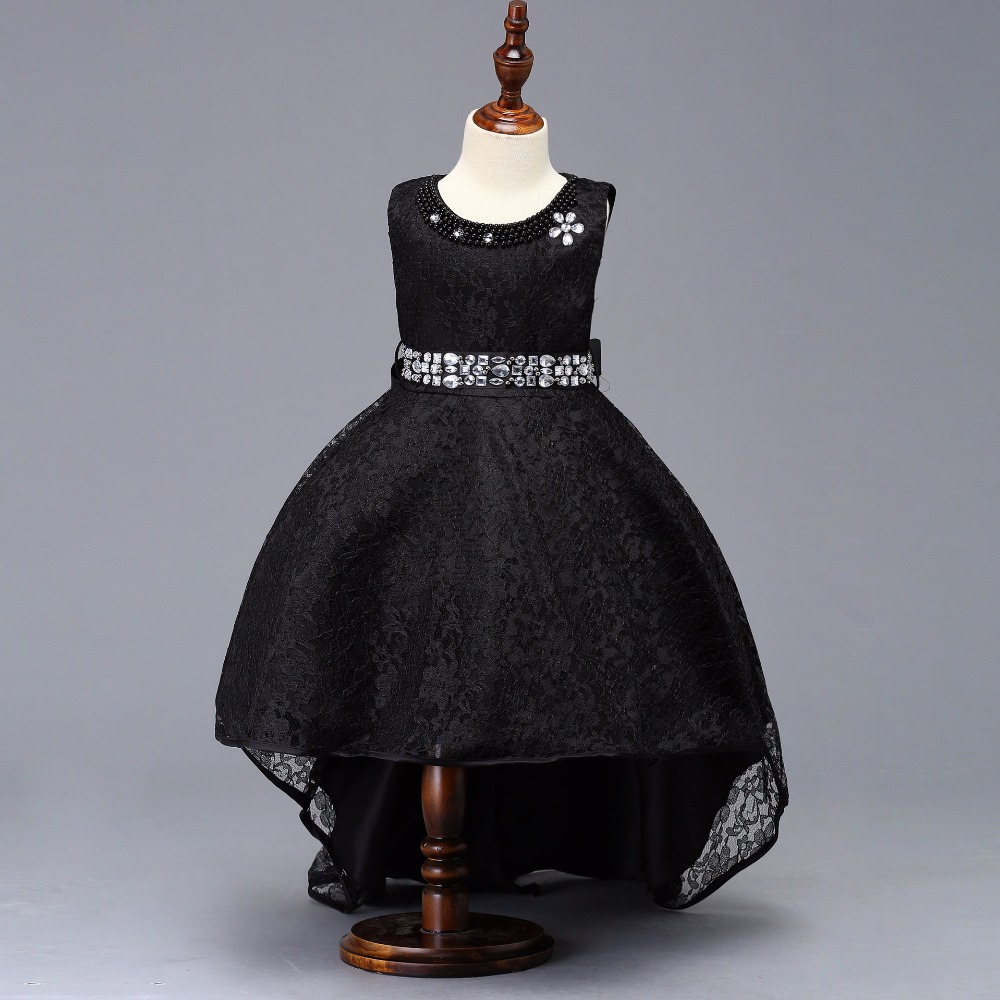 Top Sale Ballgown High Low Lace   Flower     Girls     Dress   For Evening Princess Style   Dress   Candy Colors
