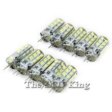 10 pces pode ser escurecido lâmpada led g 4 ac dc 12v 220v 3w 9 12 15 smd 3014 24 48d led bulbo mini g4 360 ângulo de feixe substituir luzes de halogéneo