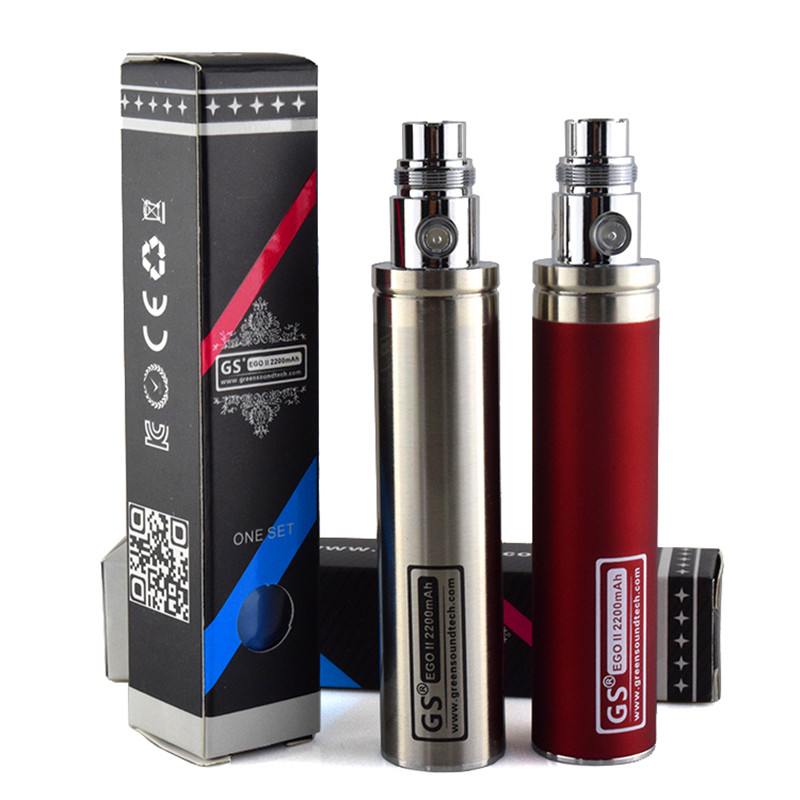 2017 Edition GS EGo II Battery 2200mah E Cigarettes Updated EGO Battery For 510 CE4  Atomizer Ecig  Battery
