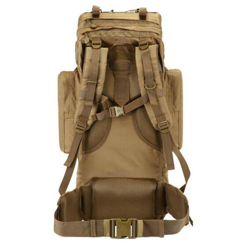 Uomini 70 litri di nylon zaino da viaggio grande capacità impermeabile zaino militare borse per il tempo libero multifunzionale di alta qualità-in Zaini da Valigie e borse su  Gruppo 3