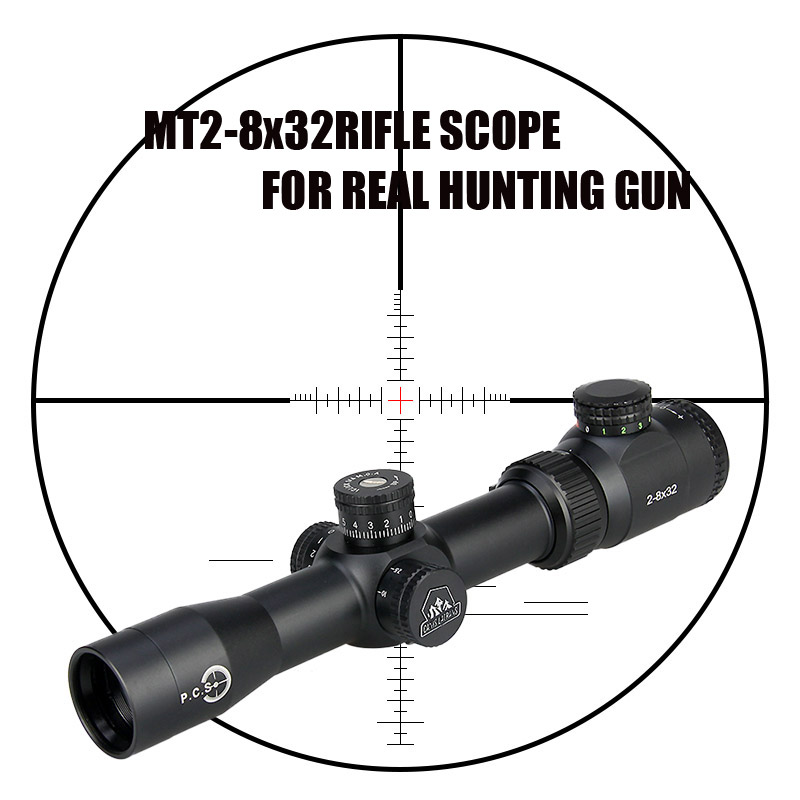 New Canislatrans Tactical Military MT2-8x32 Two Color Spotting Rifle Scope For CS Game Real Hunting Shooting CL1-0288 canislatrans military two style tactical tm4 5 18x40 4 5x 18x magnification rifle scope for hunting cl1 0287