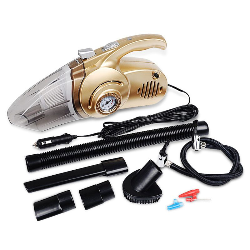 Top Sale Multifunctional 12V 120w Vacuum Cleaner For Car And Home 4 in 1 Car Vacuum Cleaner Wet Dry High Power 14.76Feet(4.5M)
