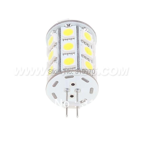 Купить с кэшбэком 27LED 5050 SMD G4 LED Corn Bulb 12VDC 12VAC 4W Dimmable Use For Yachts Boats  Ships Automobiles Carts 20pcs/lot