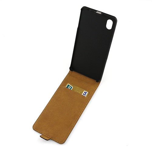 M4 luxury flip and up pu leather phone case Cover For sony xperia M4 aqua cover