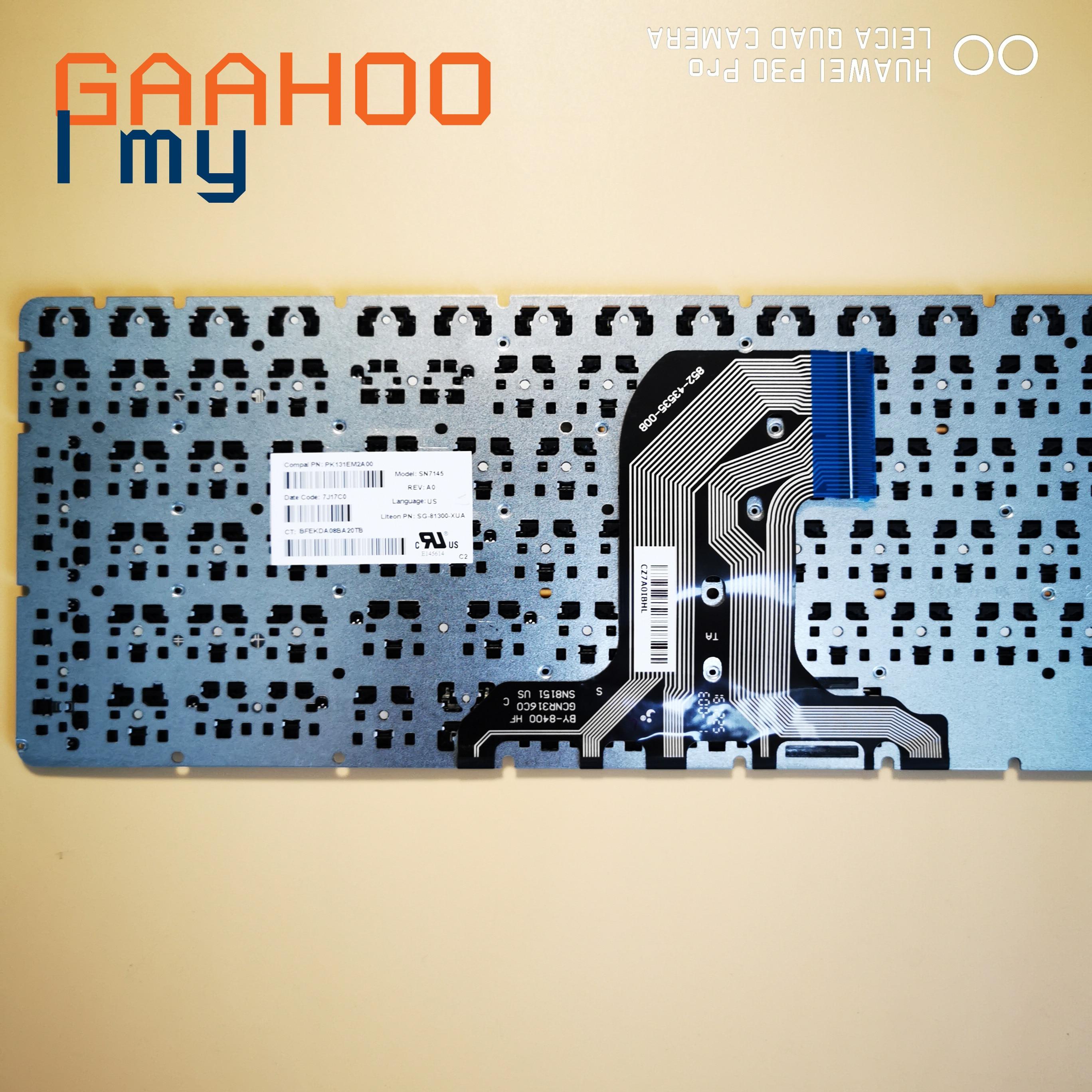 Marca nueva Original nos teclado para HP pabellón 15-AC 15-AF 15Q-AJ 250 G4 G5 255 G4 G5 256 g5 15-BA 15-AY W/O marco negro