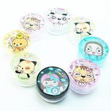 цена на 6pcs 2 in 1 Cosmetic Empty Jar Pot With Mask stick Eyeshadow Makeup Face Cream Lip Balm Container Bottles Beauty gift Maquillaje