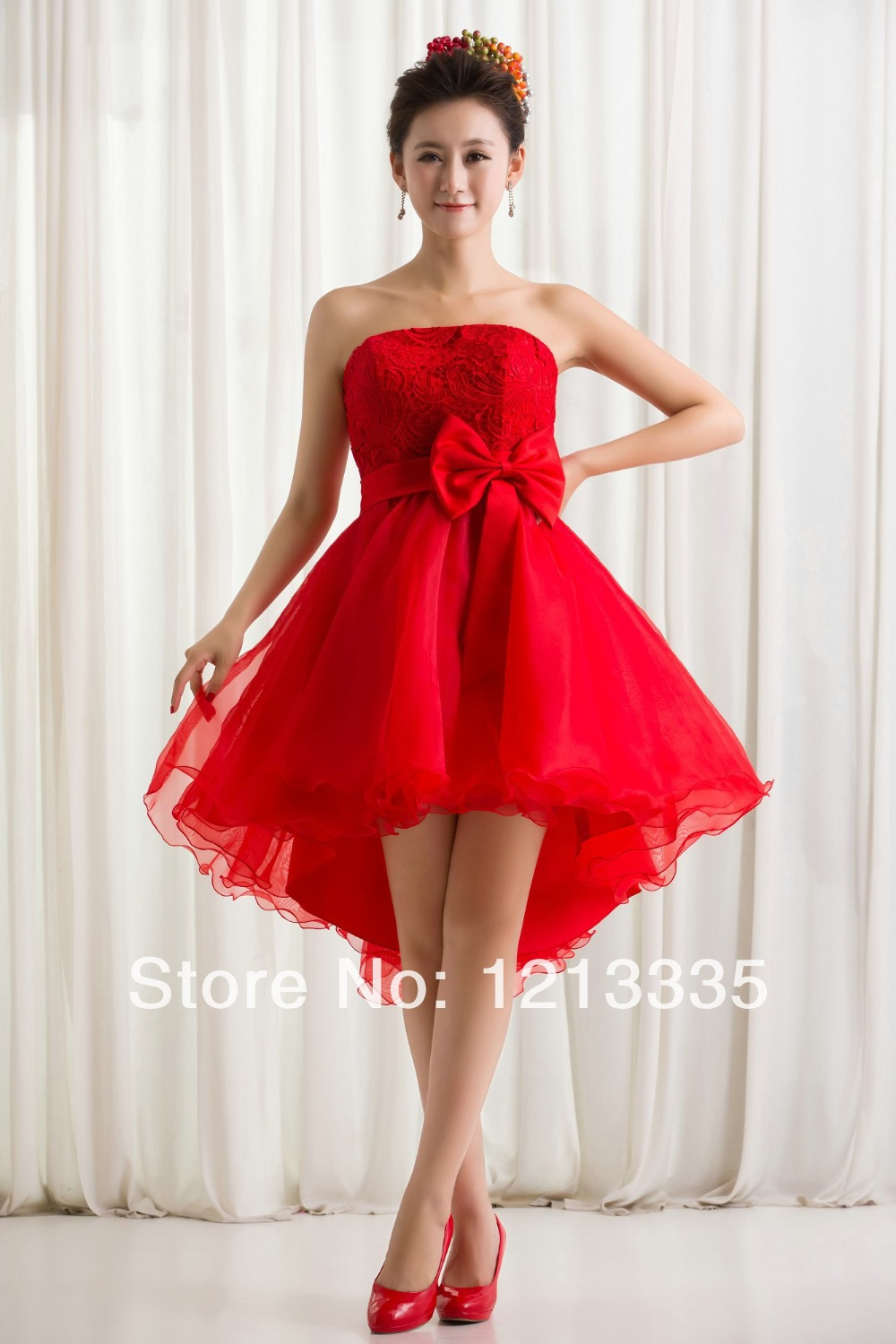 Aliexpress.com : Buy CD8799 2014 red organza lace boob tube top ...