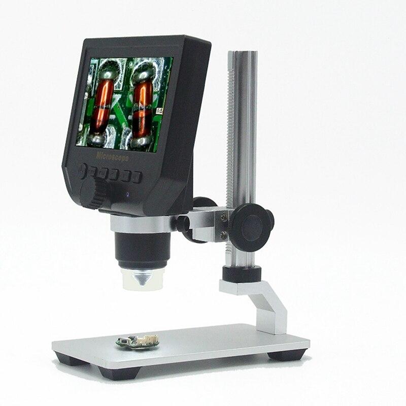 """1-600x Microscope électronique numérique Portable 3.6MP VGA Microscopes 4.3 """"HD LCD carte mère réparation Endoscope loupe caméra"""
