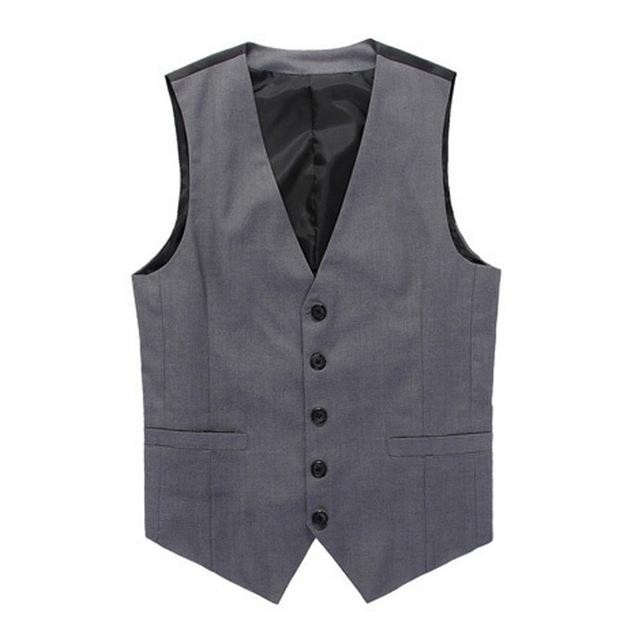 Roupas da moda mens coletes coletes xxl mens terno colete vestido escritório de negócios formal V neck botão para baixo homens colete terno