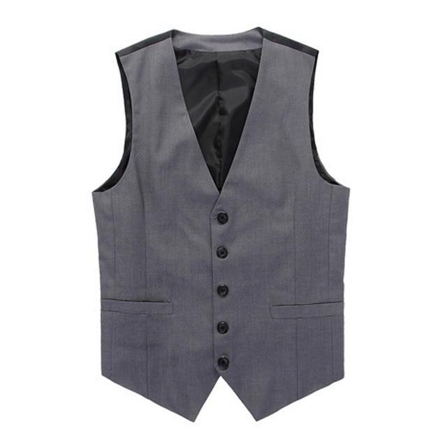 mens fashion clothing vests xxl suit vest mens dress waistcoats business office formal V neck button down men vest suit