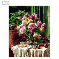 DIY Oil Painting By Numbers Frameless Paint On Canvas Modern Wall Pictures For Living Room Wall