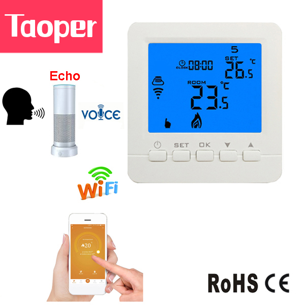 WiFi Echo Alexa Smart Thermostat Gas Boiler Water Heating Room Temperature Remote Control by Phone 3A