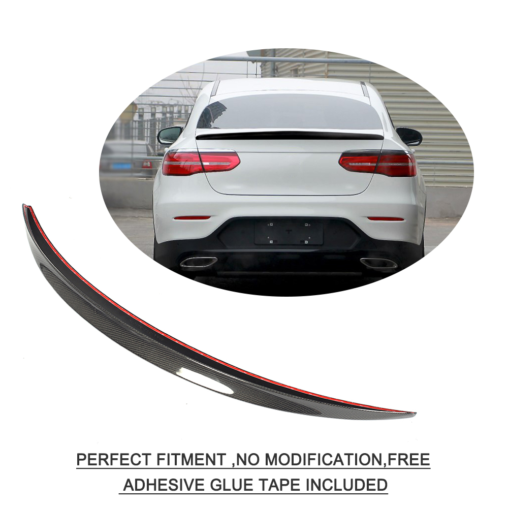 Carbon Process Trunk Spoiler for Mercedes C253 A Type GLC 4-door Coupe 2017+