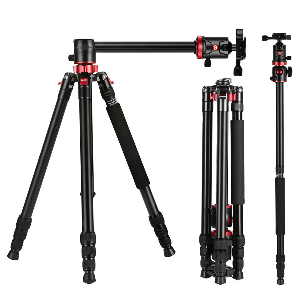 ZOMEI M8 GO Camera Tripod Travel Compact Aluminium Monopod Professional Tripods With Ball Head for Canon Nikon DSLR DV Camcorder neewer 360 degree rotation handheld pistol grip head sliding plate for canon nikon camcorder monopod tripods with 1 4 inch screw