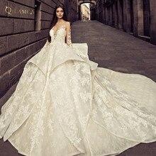 QILAMCA Long Sleeve Ball Gown Wedding Dress 2019
