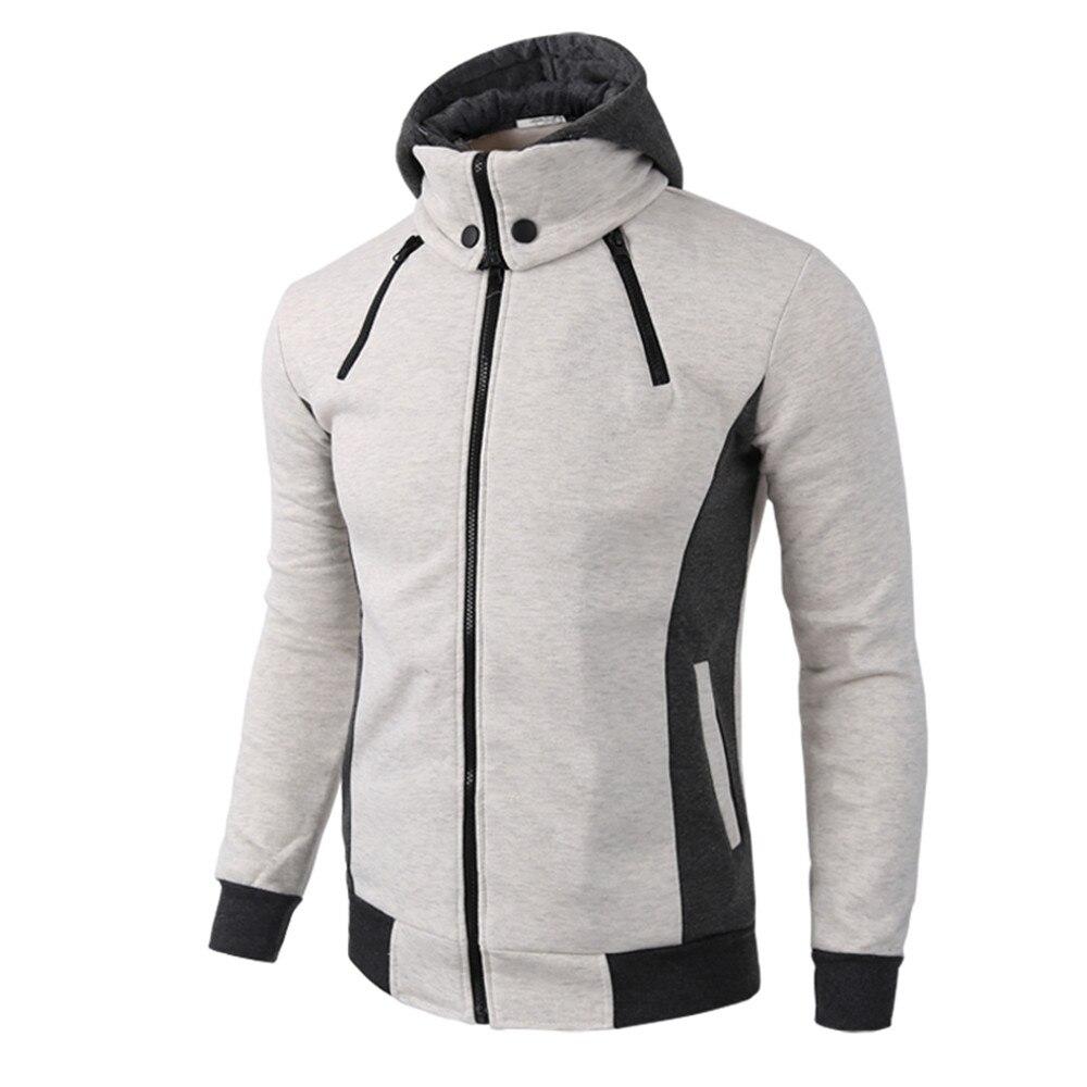 100% QualitäT 2019 Neue Frühling Herbst Jacke Männer Warme Casual Zipper Langarm Mit Kapuze Mantel Top Bluse Jacke Casacos Masculino