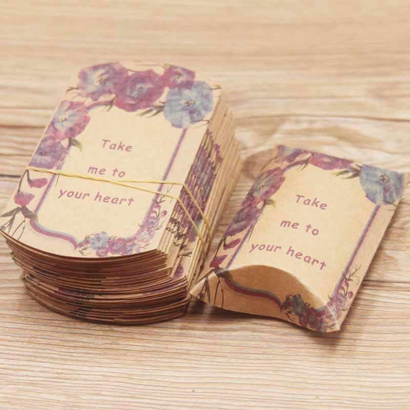 10 шт. удачи ювелирные изделия «Ловец снов» посылка подушка коробки бумаги Marbel стенд для выкладки конфет цветочный дизайн подарки Подушка посылка коробка