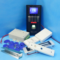 DIY Voller Tcp/ip Fingerprint Access Control System Fingerprint Tür Access Controller + U Halterung + Magnetic Lock Glas tür Control