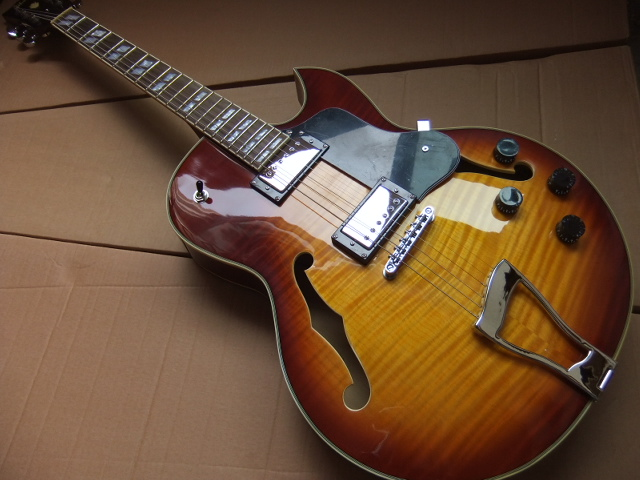 Wholesale new L-5 Jazz Electric guitar ES-175 semi hollow ES175 in sunburst 100718 high quality musical instrument cherry sunburst classical hollow guitar body es jazz guitars china lefty available