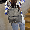 2016 Fashion Women Leather Backpacks Alligator Crocodile Schoolbags For Teenagers Girls Shoulder Bag Bagpack Mochila Feminina