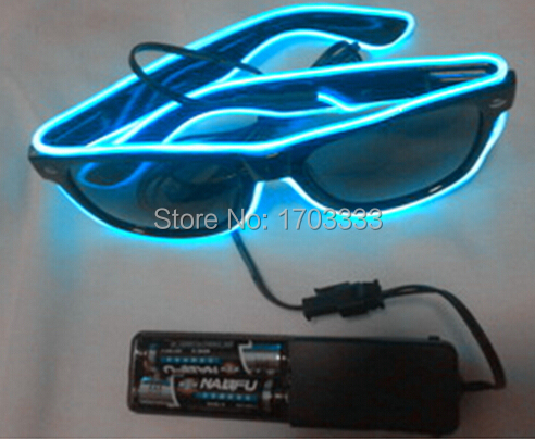 50pcs/lot Sound Music Voice Activate led glasses El Wire Glow Sun Glasses light up glasses for Party DHL Fedex Free Shipping