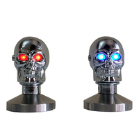 Feic skull Tamper 58mm Stainless Steel Coffee Tamper Barista Espresso Special Base Coffee Bean Press skull with blue/red eyes