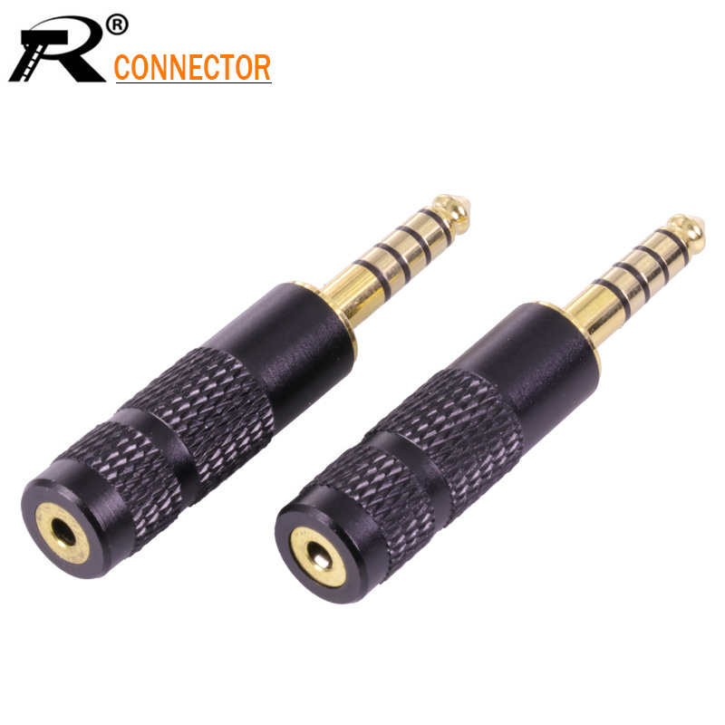 цена на 100pcs 4.4mm Jack 5 Poles Male Plug Full Balanced Headphone adapter to 2.5mm Female Jack Socket