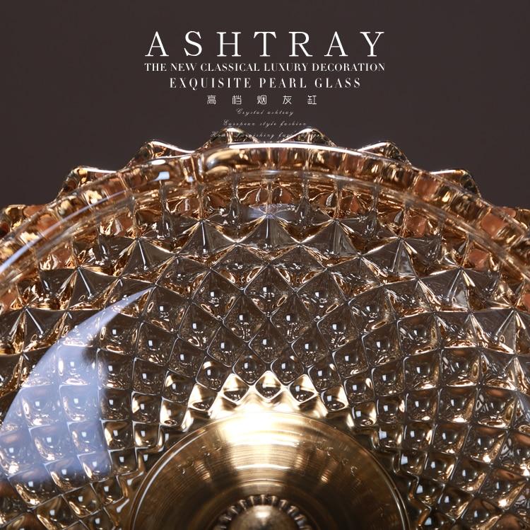 Metal Ashtray Crystal Ashtray Cute Decoration For Desk
