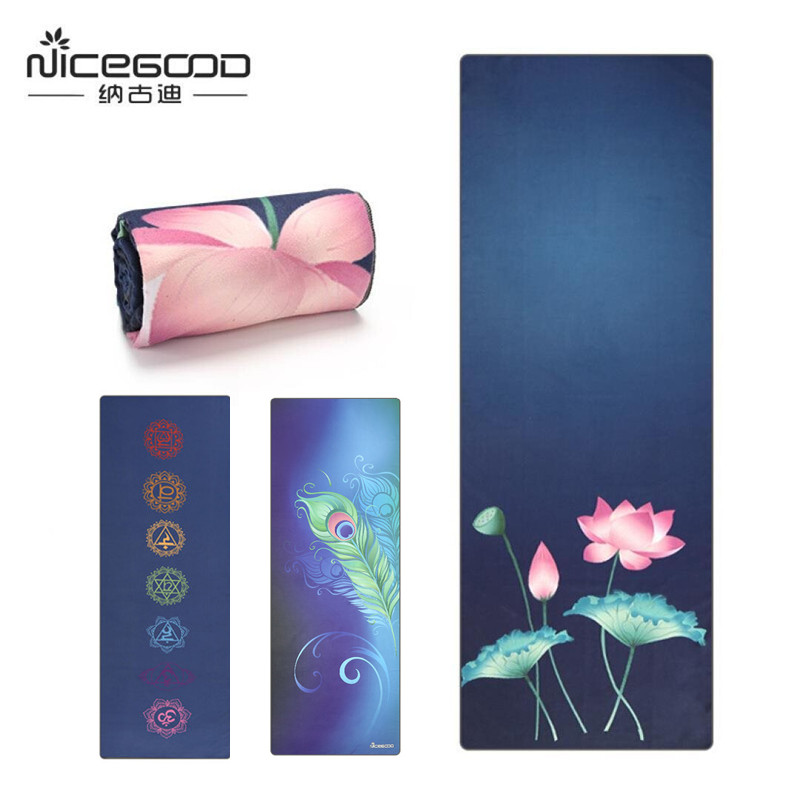 Microfiber Yoga Towel Non Slip Tie Dye Printed Quick Dry