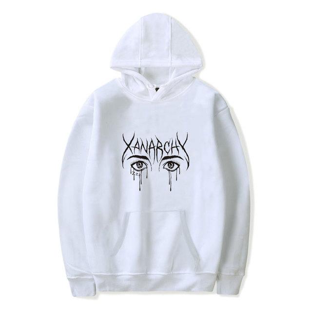 2018 Lil xan Xanarchy Fashion Hoodies Sweatshirts Autumn Hip Hop Men/Women Cool Hoodies Pullover Harajuku Popular Sweatshirts4XL