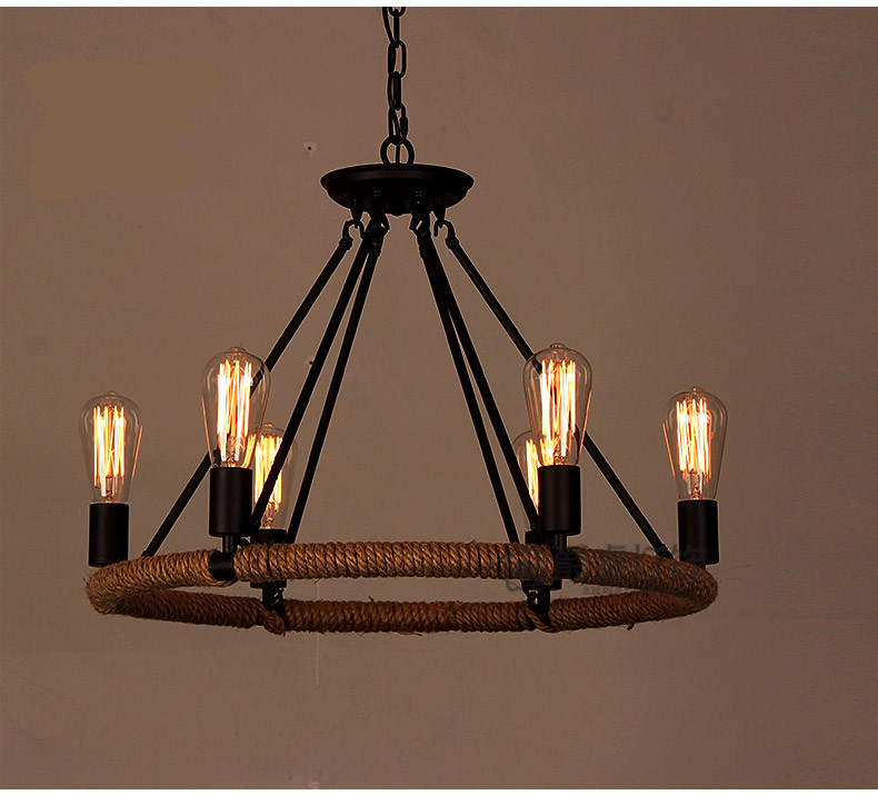 Product Photos - Regron Nordic Chandeliers Retro Fashion Unique Black Chandelier