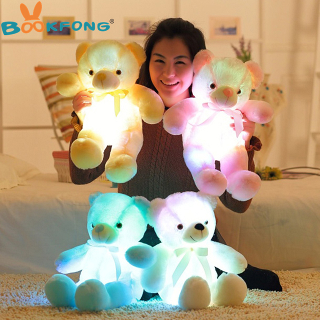 Creative Light Up LED Teddy Bear Led Dog Plush Toy Stuffed Animals Colorful Glowing Dolphin Soft Led Heart Pillow Christmas Gift Uncategorized Decoration Kid's Toys Stuffed & Plush Toys Toys